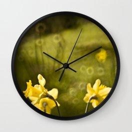 Daffodills Wall Clock