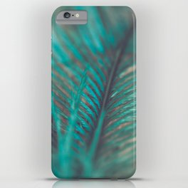Turquoise Feather Close Up iPhone Case
