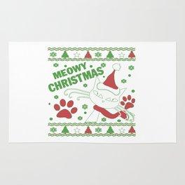Meowy Christmas Rug
