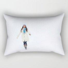 Enjoying Winter Rectangular Pillow