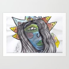 Darla the Space Queen Art Print