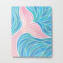 Pink Mermaid's Tail Metal Print