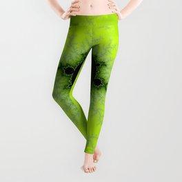 Fractal Mandelbrot Green Leggings