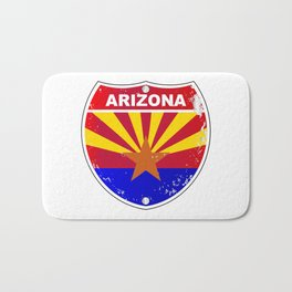 Arizona Interstate Sign Bath Mat