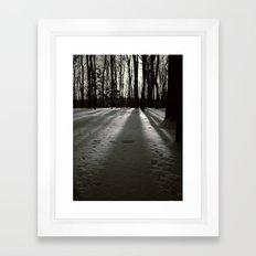 Wooded Winter Framed Art Print