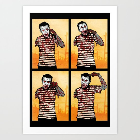 The Zombie Mime! Art Print