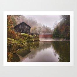 Morning at the Mill Art Print