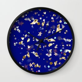Colorful Gems Design Wall Clock