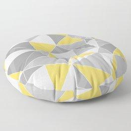 Pattern, grey - yellow Floor Pillow
