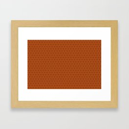 Oranges Pattern Framed Art Print