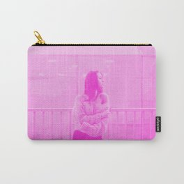 Fierce in Pink Digital Risograph Carry-All Pouch