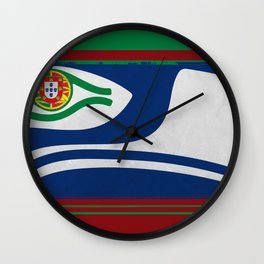 Portuguese Hawks Colors Wall Clock