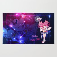 chibi Area & Throw Rugs featuring Sailor Chibi Chibi Moon by Neo Crystal Tokyo