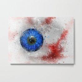 Blue Eye Paint Metal Print