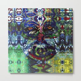 Graphic expression, to acknowlege inherited modes. Metal Print