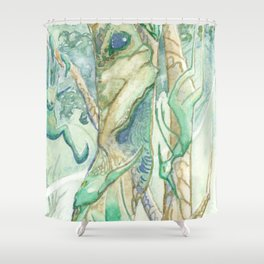 The Bumi Tree Sprites Shower Curtain