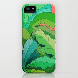 lettuce leaves iPhone Case