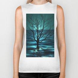 Tree in Ocean Biker Tank