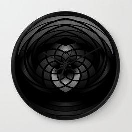 Modern Me Dark Spiral Wall Clock