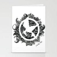 mockingjay Stationery Cards featuring Mockingjay by Sketches D.