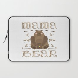 Autism Mama Bear Autistic Child Awareness Day Gift Laptop Sleeve