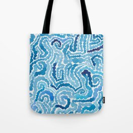 Blue Painting Tote Bag