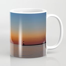Blue hour in the harbor Coffee Mug