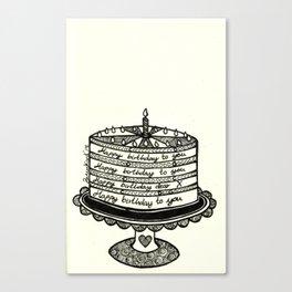 The Happy Cake ♥. Canvas Print