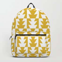 Art Deco Jagged Edge Pattern Mustard Yellow Backpack