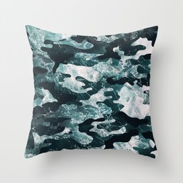 Surfing Camouflage #2 Throw Pillow