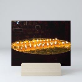 Tibet: Ritual butter lamp Mini Art Print