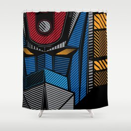 091 Grendizer Full Shower Curtain