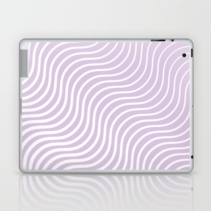 Whiskers Light Purple & White #713 Laptop & iPad Skin