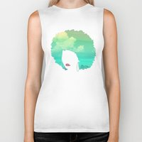 afro Biker Tanks featuring Afro by Studio Samantha