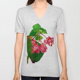 Begonia Watercolour Unisex V-Neck
