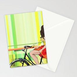 Sentiments d'été - le velo Stationery Cards