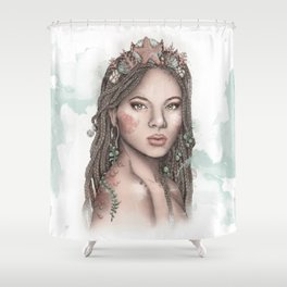Wandering Mermaid Shower Curtain