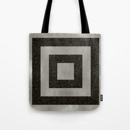 Silver Squares Tote Bag
