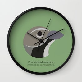 Five-striped sparrow Wall Clock