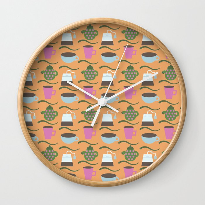 Teatime Print Wall Clock