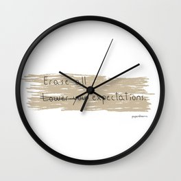 Erase All Expectations Wall Clock