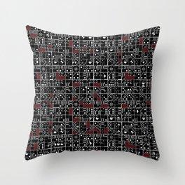 Domino Variation 1 Throw Pillow