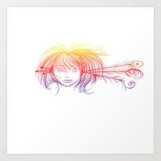 Arrow Head (Yellow/Red/Blue) Art Print