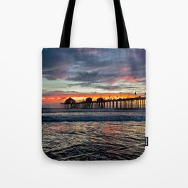 Huntington Beach Sunset  1/26/14 Tote Bag