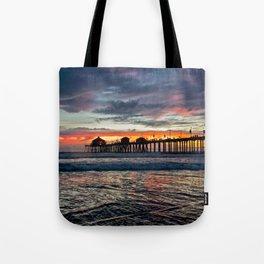 Huntington Beach Sunset  1/26/14 Tote Bag