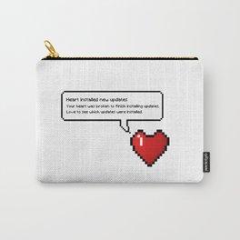8 Bit Pixel Speech Bubble Heart Carry-All Pouch