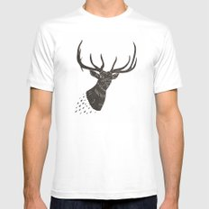 Taxidermied Elk Mens Fitted Tee MEDIUM White