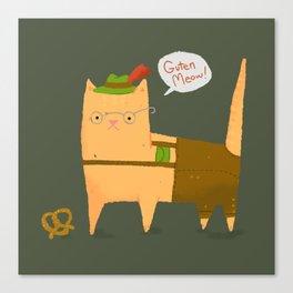 Oktoberfest Kitty Canvas Print