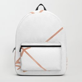 Rose Gold Arrows on White Backpack