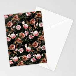Vintage & Shabby Chic - Blush Camellia & Kingfishers Stationery Cards